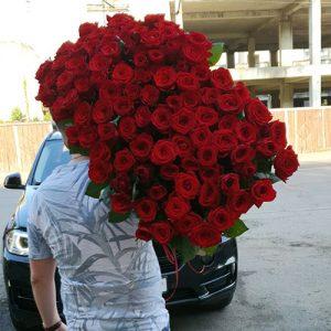букет 101 красная роза в Хмельницком