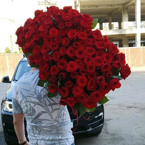 букет из 101 красной розы в Хмельницком