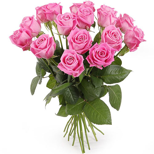 """фото букета 15 роз """"Аква"""""""