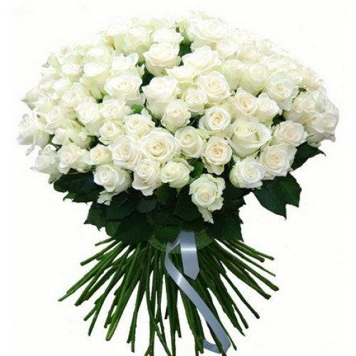 букет 101 белая роза