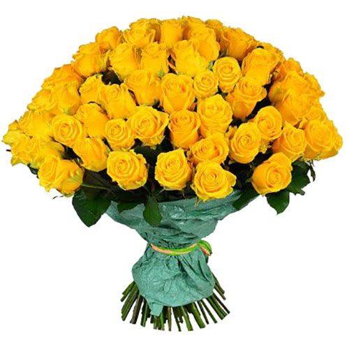 букет 101 желтая роза