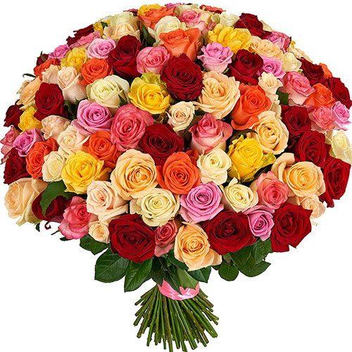 фото букета 101 роза микс