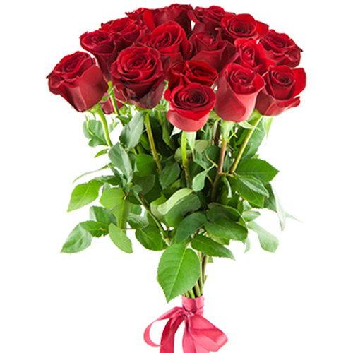 букет 15 імпортних троянд