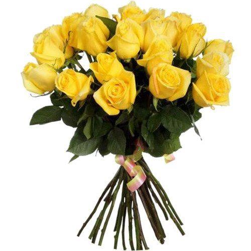 букет 25 желтых роз