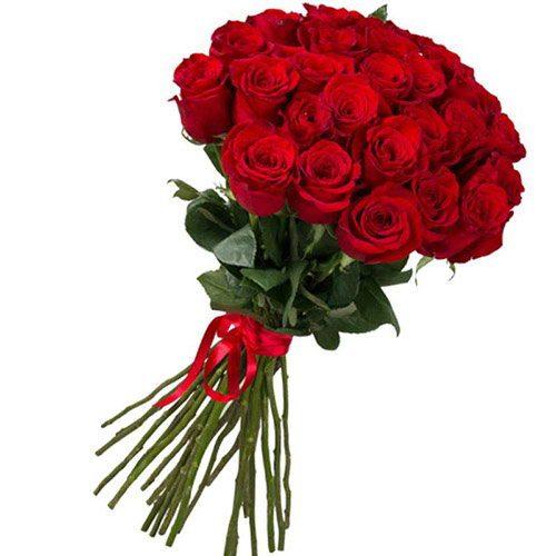 букет 25 імпортних троянд
