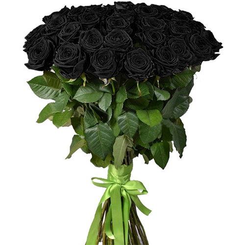 фото букета 25 черных роз
