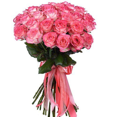 "фото букета 33 розы ""Джумилия"""