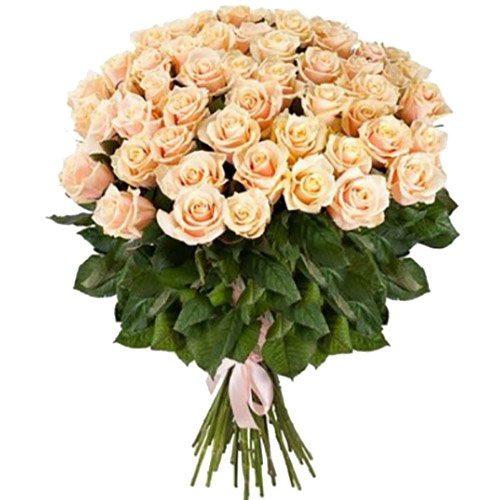 фото букета 51 кремовая роза