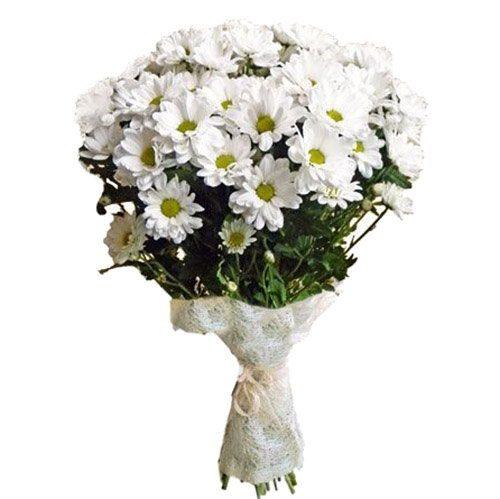 Букет «Очаровашка» ромашковые хризантемы