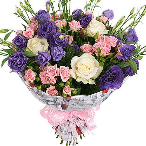 Букет «Промінь» мікс квітів