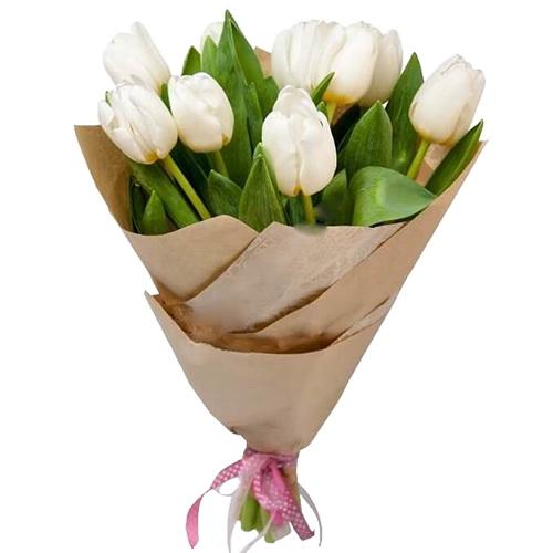 фото 11 білих тюльпанів