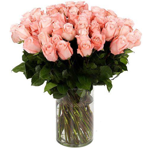 фото Роза импортная розовая (поштучно)