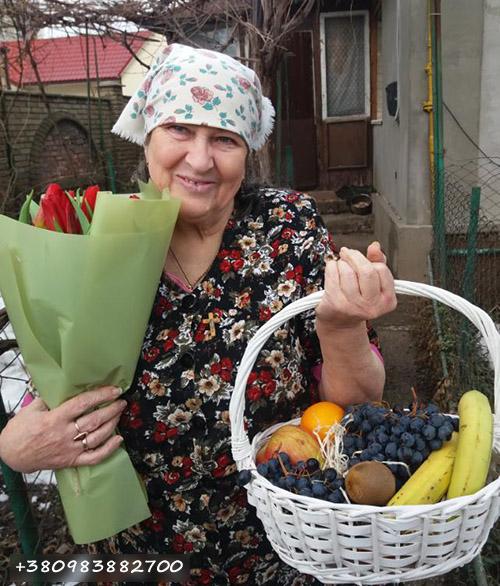 тюльпаны и фрукты фото доставки